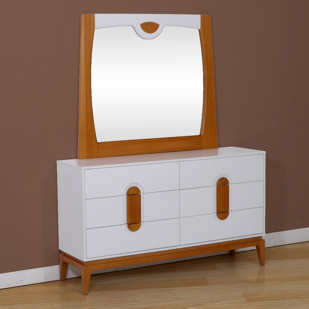 big sale a0267 b3d83 Malta Engineerwood Dresser Table With Mirror-White/Brown