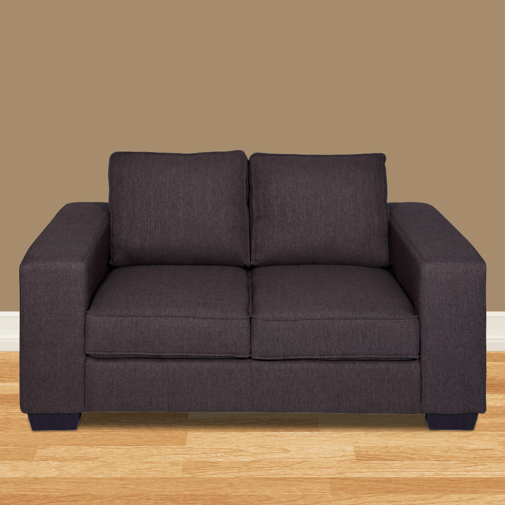 Zaira Fabric Sofa 2 Seater - Dark Grey