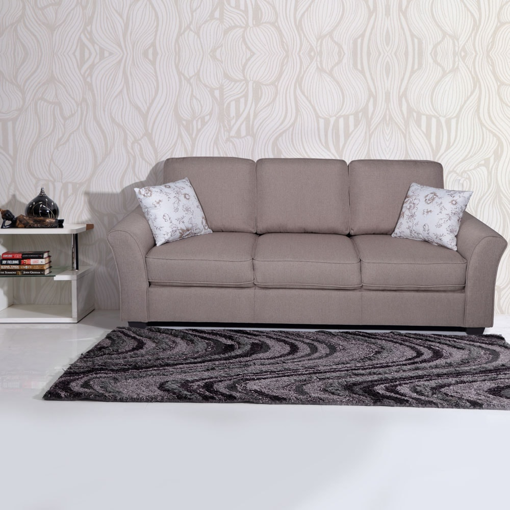 Andorra Fabric Sofa 3 Seater - Brown