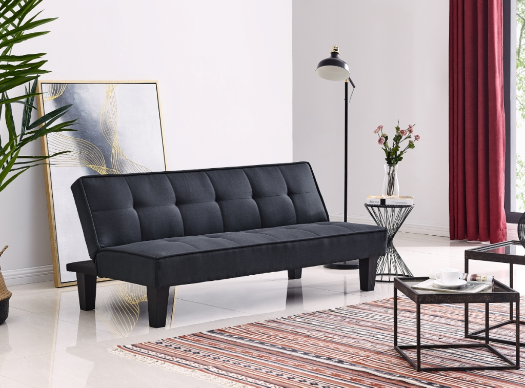 Swell Verna Sofa Cum Bed In Black Colour Inzonedesignstudio Interior Chair Design Inzonedesignstudiocom