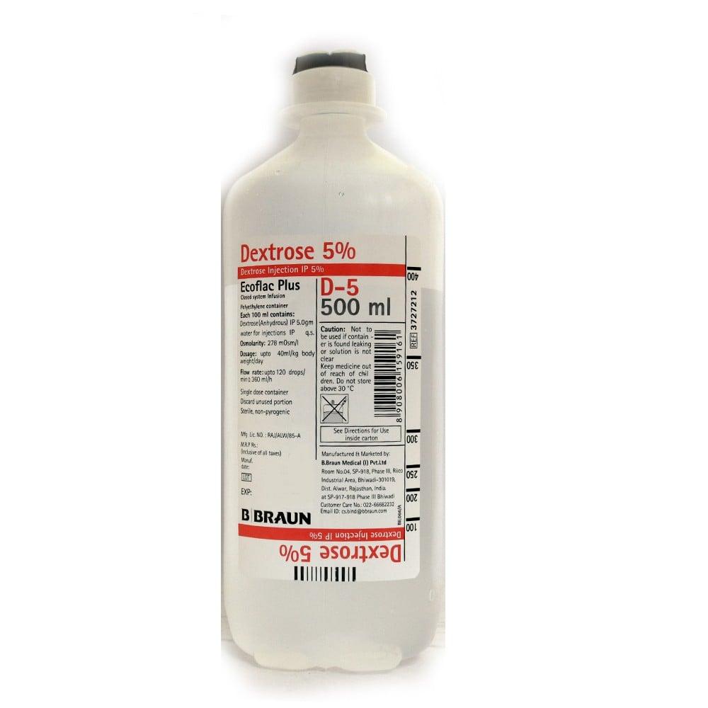 B Braun Ecoflac Plus Dextrose 5% 500Ml