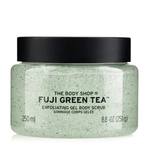 Body Scrubs, Bath & Body, Home, FUJI GREEN, Fuji Green Tea Body Scrub , Apply body scrub to damp skin in a circular motion then rinse thoroughly for soft, smooth skin. For best results, use two or three times a week.