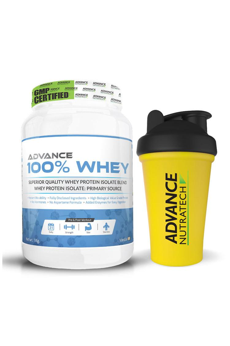 Advance Nutratech 100 Whey 2.2Lbs Vanilla With Fre