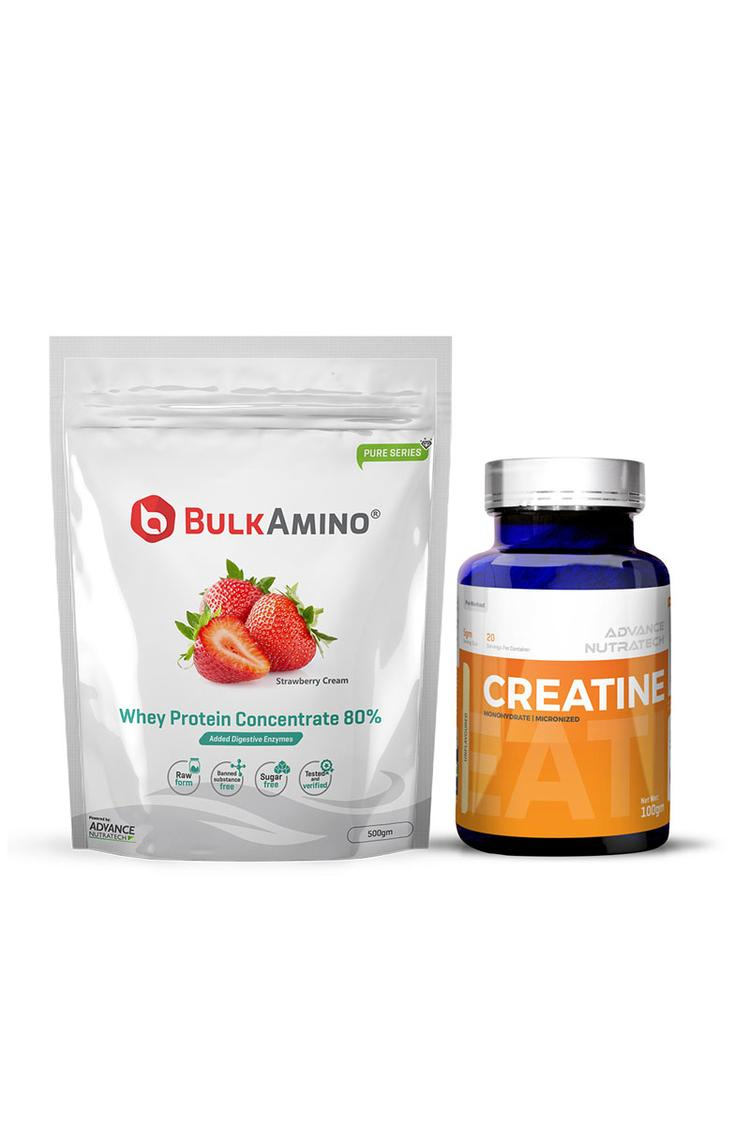 Advance Nutratech Bulkamino Whey Protein Strawberr