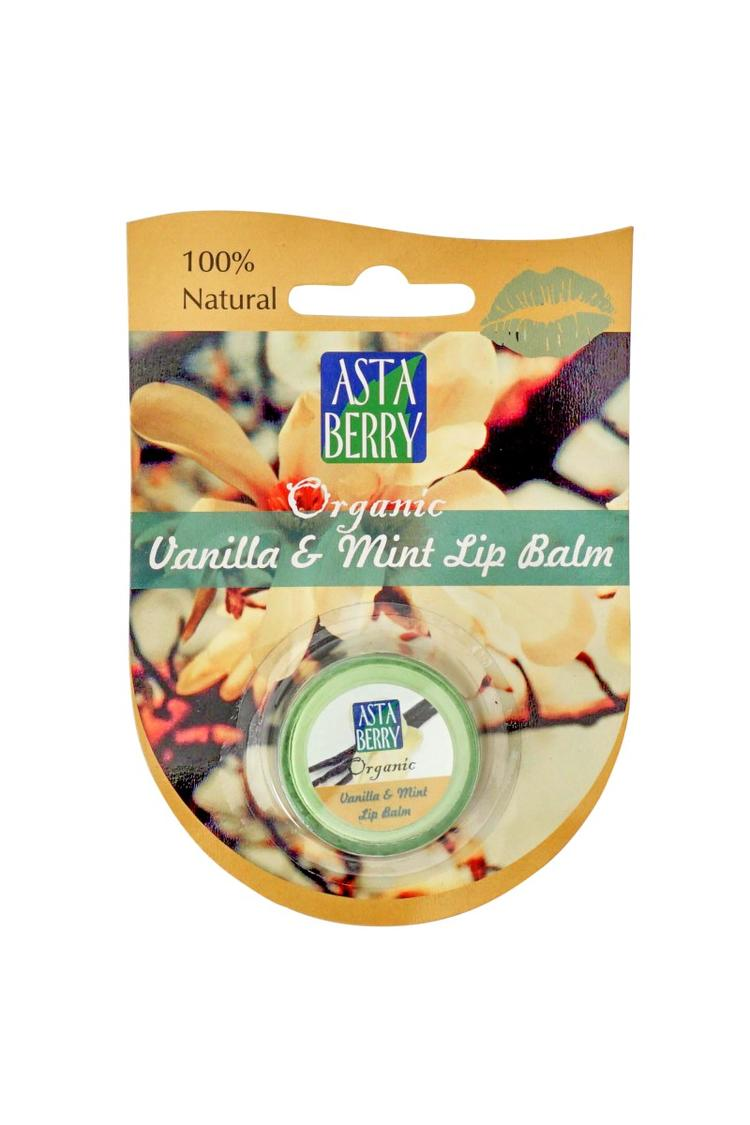 Astaberry Vanilla And Mint Lip Balm 5G