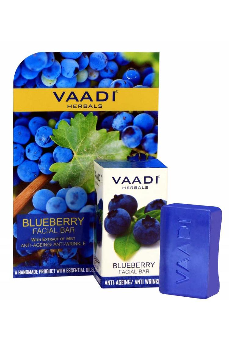 Vaadi Herbals Blueberry Facial Bar With Extract Of