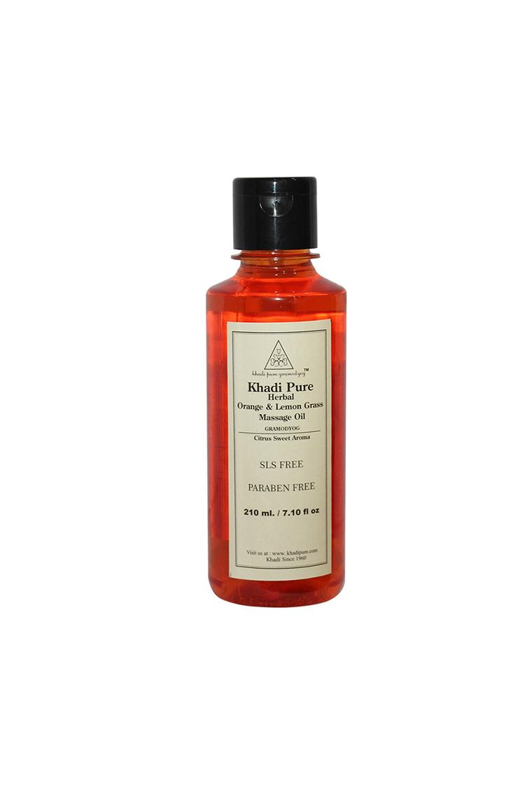 Khadi Pure Herbal Orange And Lemongrass Massage Oi