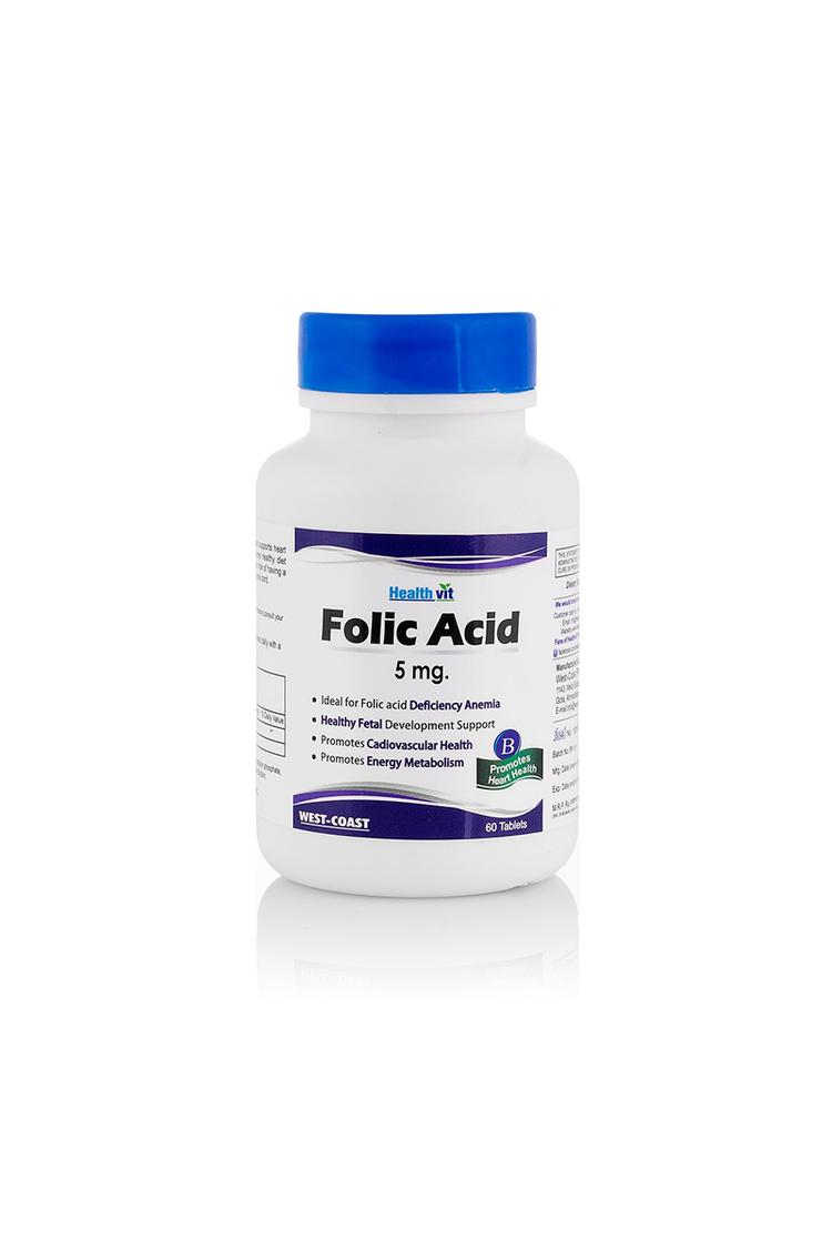 Healthvit Folic Acid 5Mg 60Tablets Pack Of 2 For C