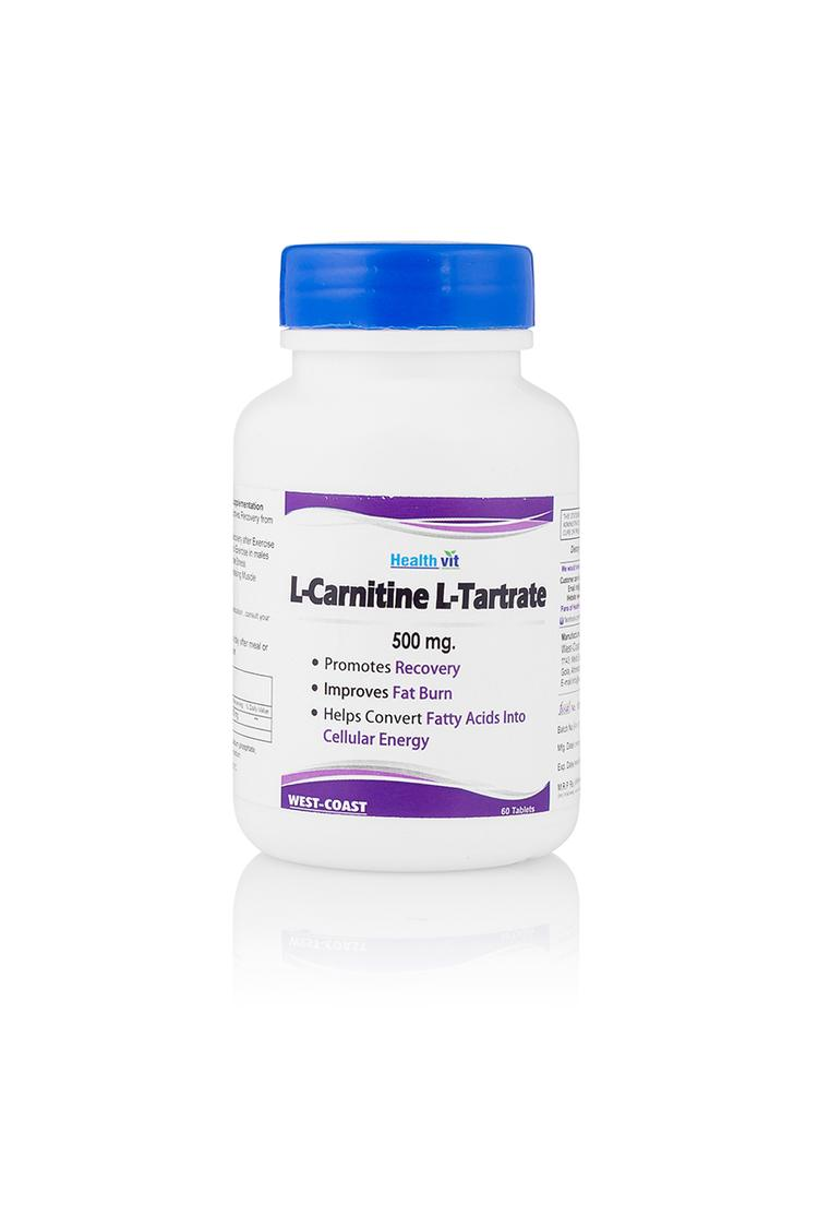 Healthvit Lcarnitine And Ltartrate 500Mg 60 Tablet