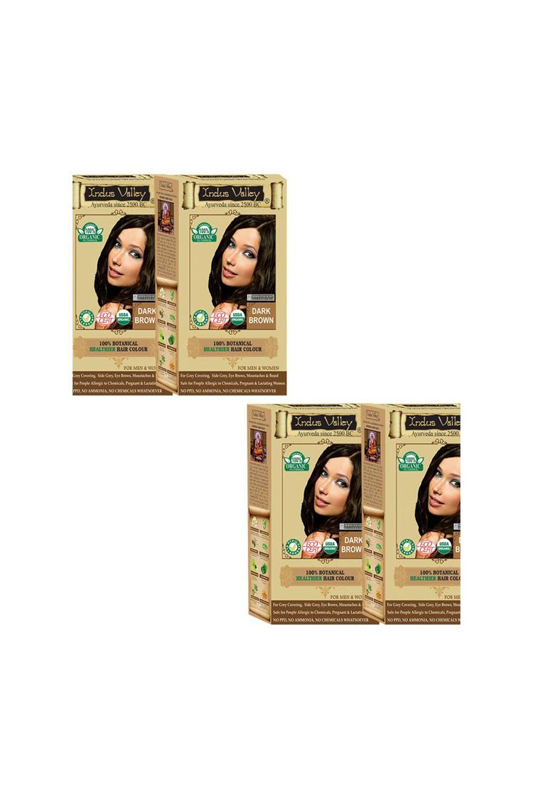Indus Valley Botanical Dark Brown One Touch Pack S