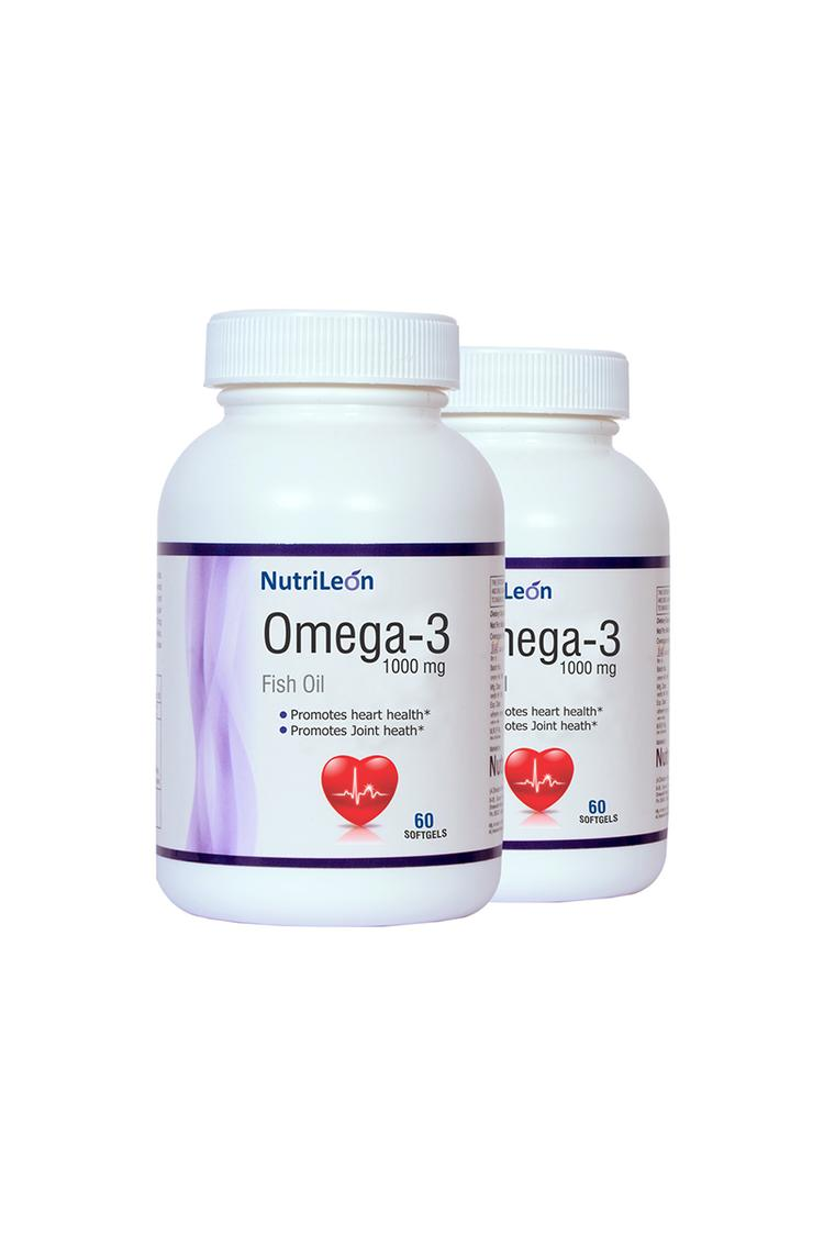 Nutrileon Omega 3 Fish Oil 1000 Mg 60 Softgels Pac