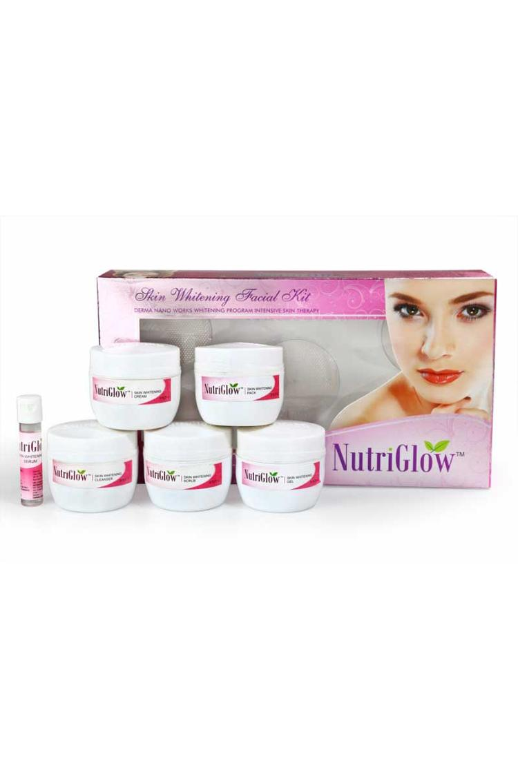 Nutriglow Skin Whitening Facial Kit With Free Nutr