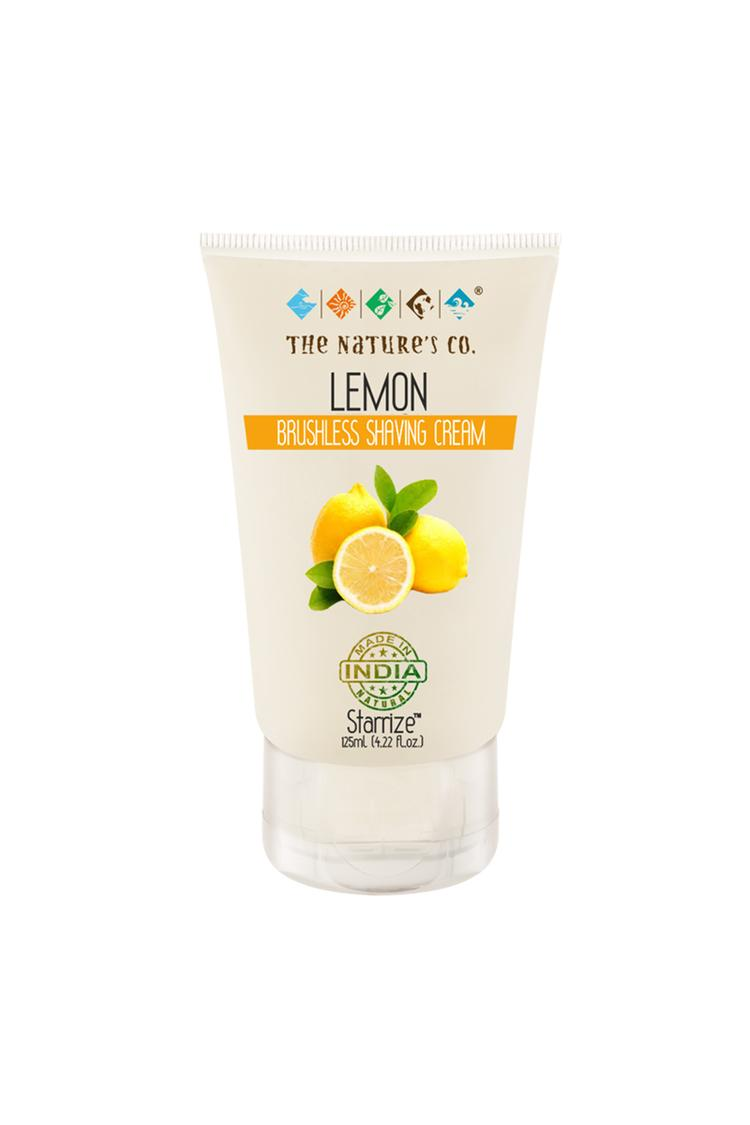 The Natures Co Lemon Brushless Shaving Cream 125 M