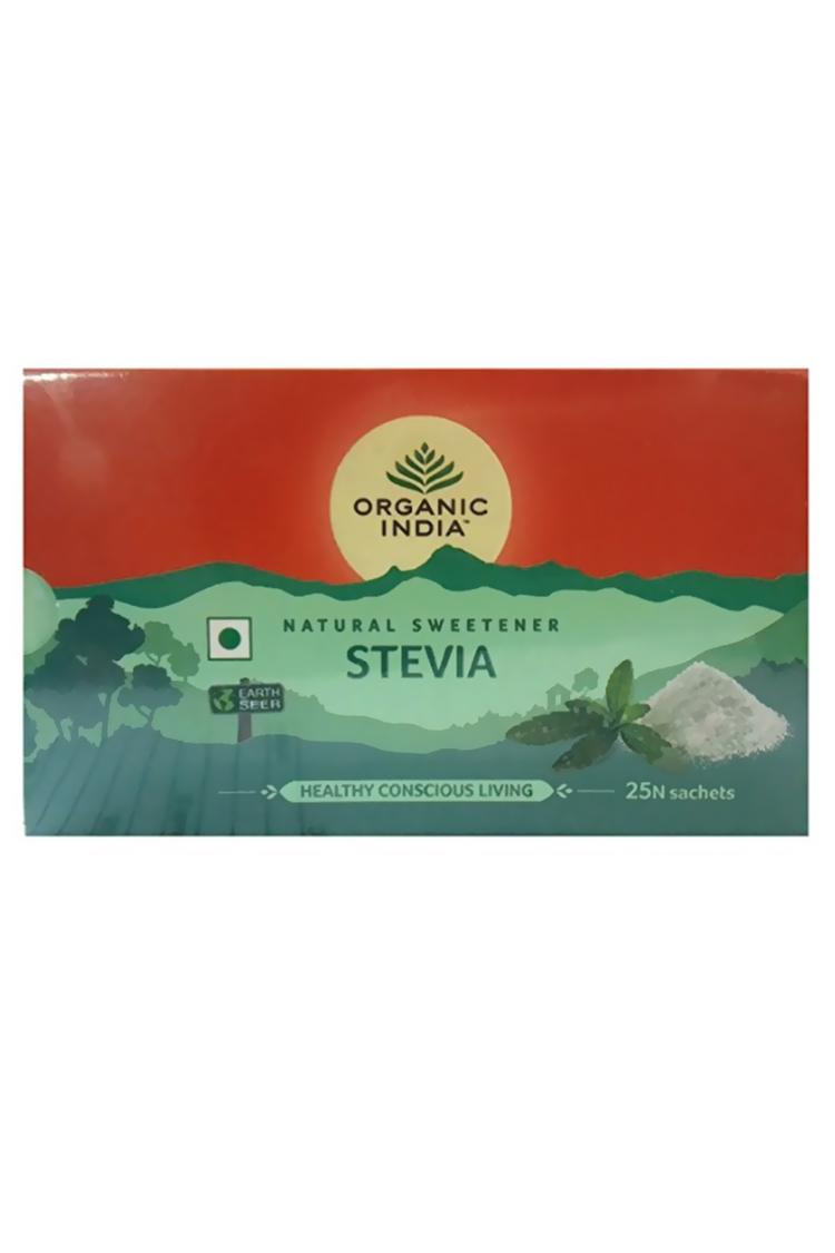 Organic India Organic Stevia 25 Sackets Pack Of 3
