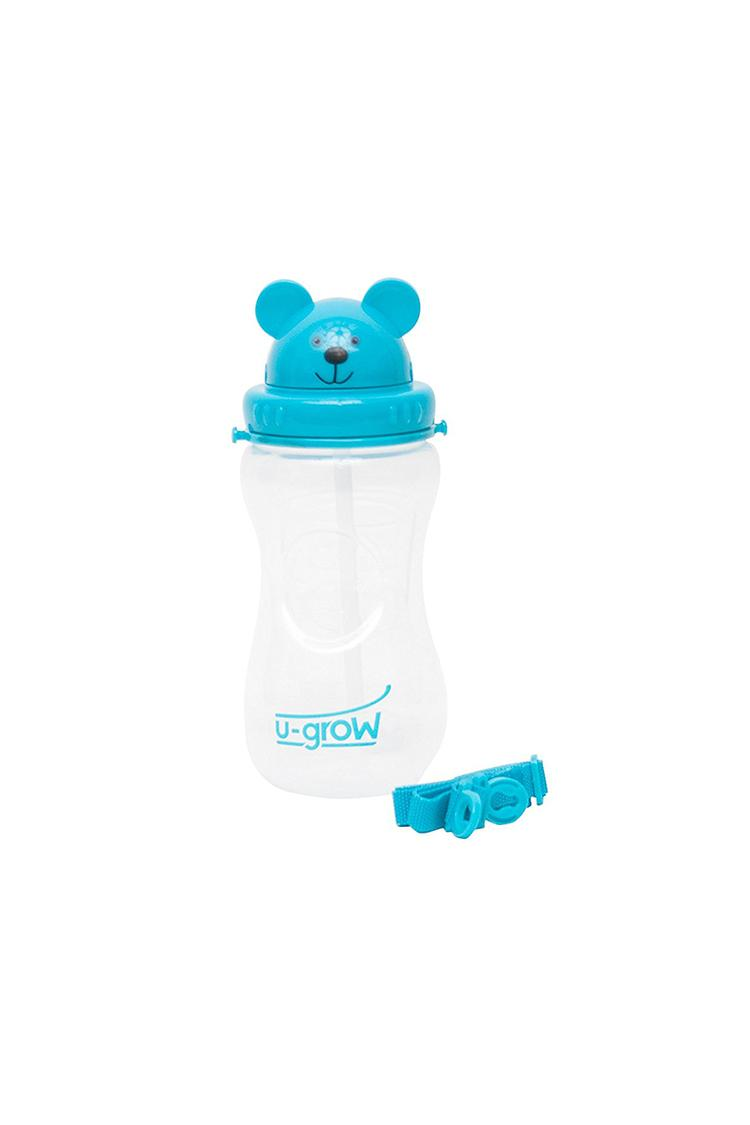 Ugrow Bear Cup Bottle With Straw And Carry On Belt