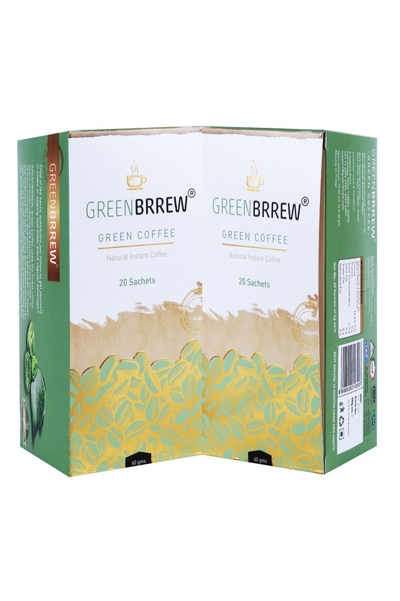 Greenbrrew Natural Instant Coffee For Weight Loss 20 Sachets Pack Of 2