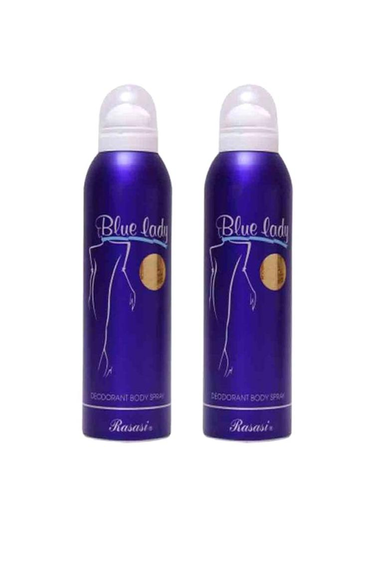 Rasasi Blue Lady Deo Set Of 2 Perfume Body Sprayfo