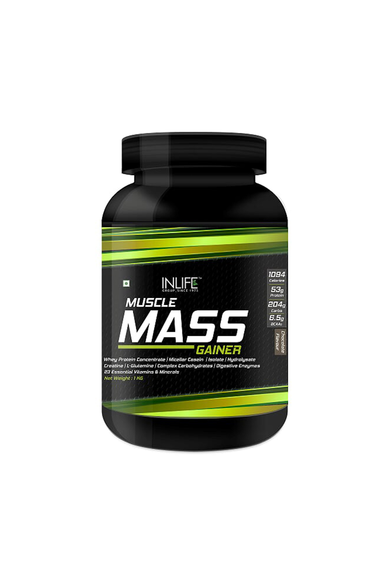 d4a8271ac00 Inlife Muscle Mass Gainer Protein Powder 1Kg Chocolate