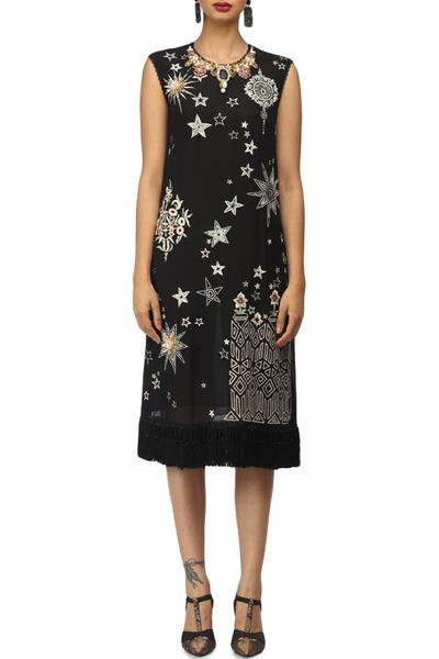 Dresses, Clothing, Carma, Black star and floral pattern dress ,  ,  ,