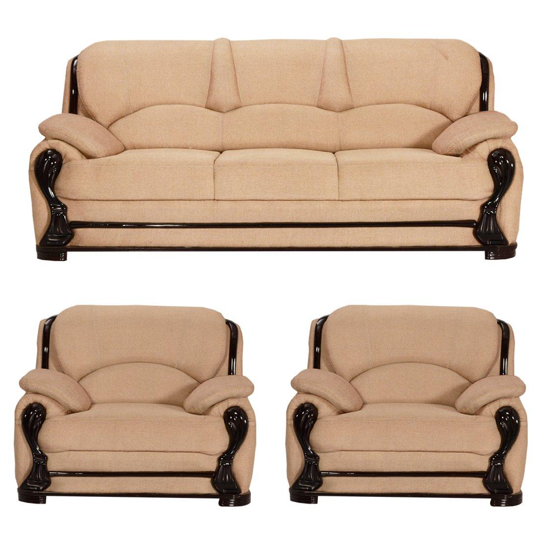 Bharat Lifestyle China Gate Fabric 3 1 1 Cream Sofa