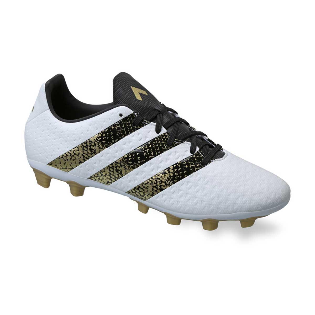 Buy Adidas Ace 16 4 Fxg Football Shoes White Black Gold