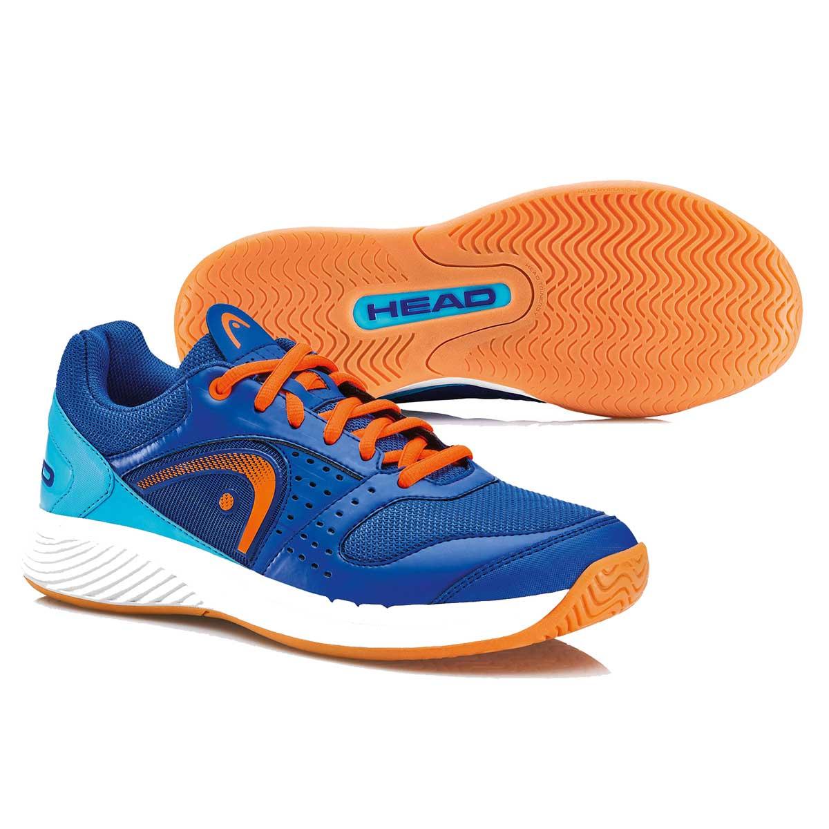 Buy Head Sprint Team Indoor Squash Shoes Blue Orange Online