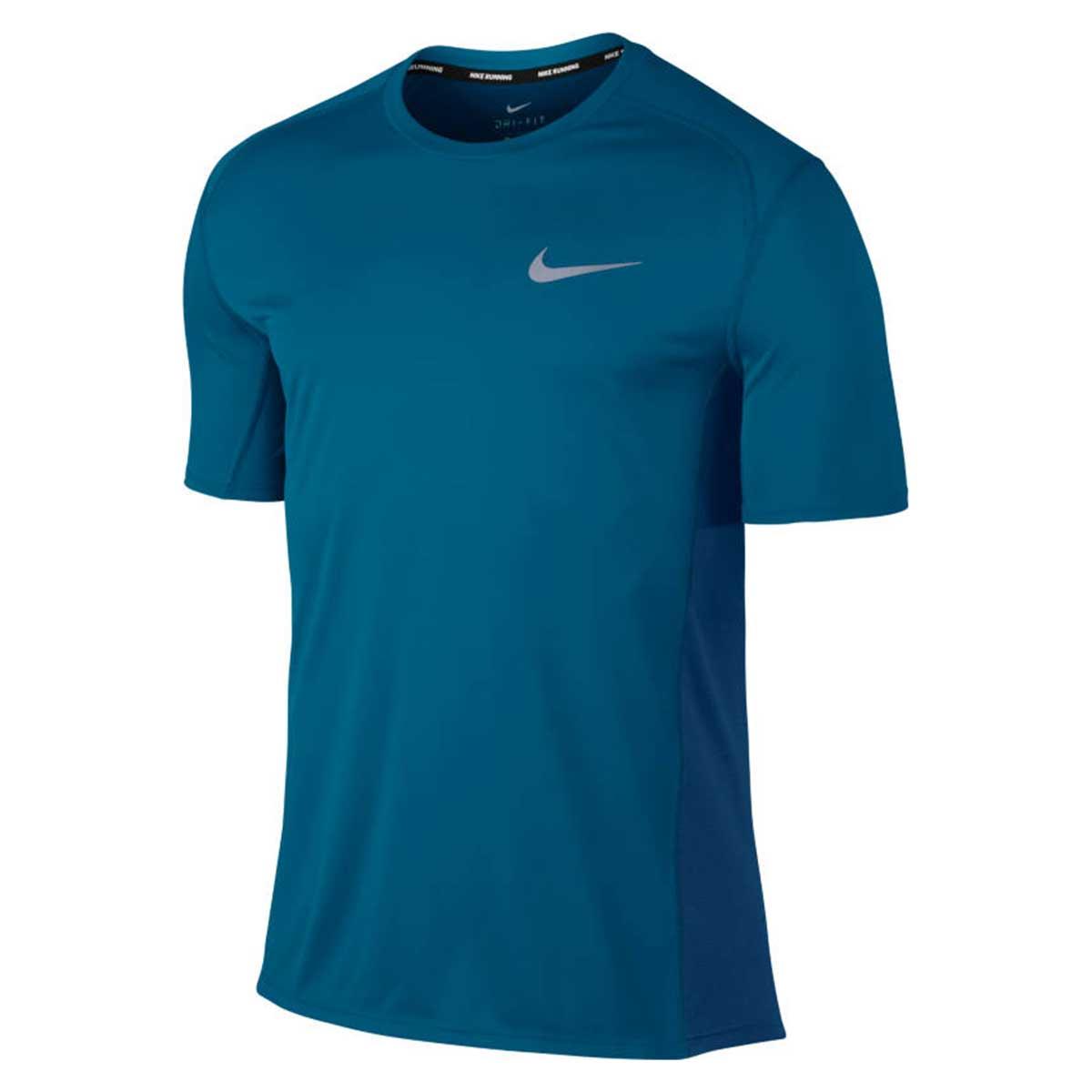 Buy Nike Dry Miller Dri Fit Running T Shirt Blue Online