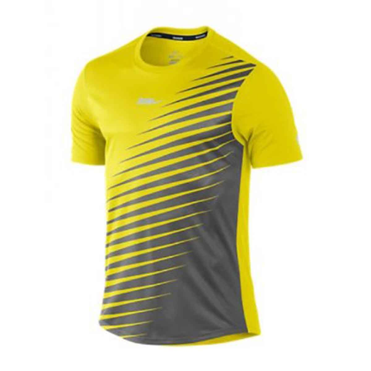 Buy Nike Men S Sublimated Running T Shirt Yellow Online