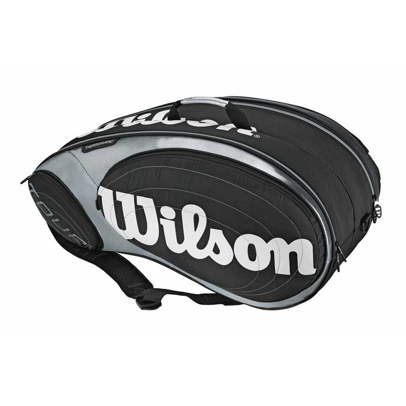 Buy Wilson Tour 9 Pack Tennis Kit Bag (Black/Silver
