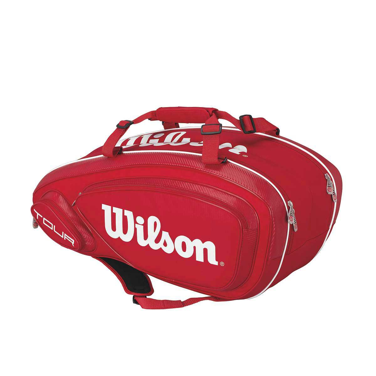Buy Wilson Tour V 9 Pack Tennis Kit Bag (Red) Online In India