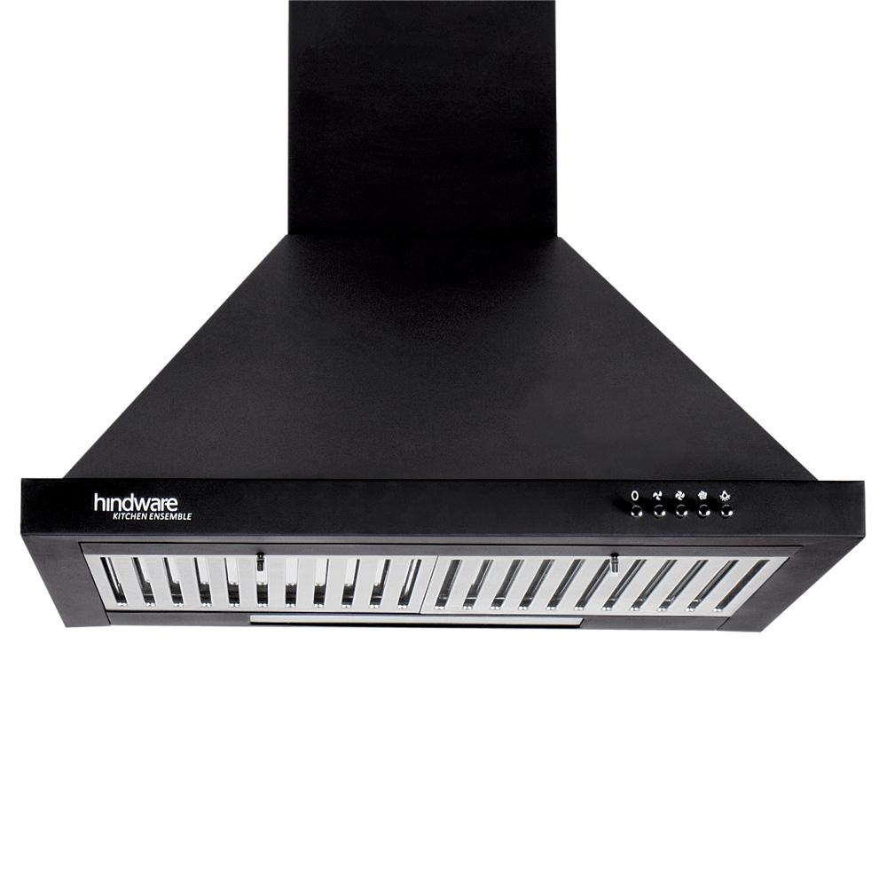 Chimney Hindware Jupiter Neo Black 60 Cm 1000 M3 Hr Ss