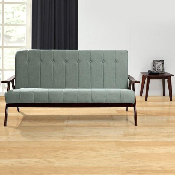 Three Seater Fenton Fabric Sofa 3 Seater Light Green