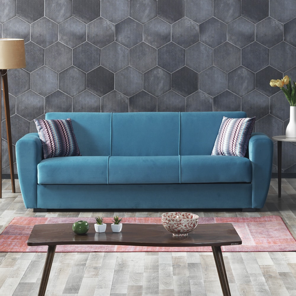 Three Seater Nora Fabric Sofa Bed 3 Seater With Storage