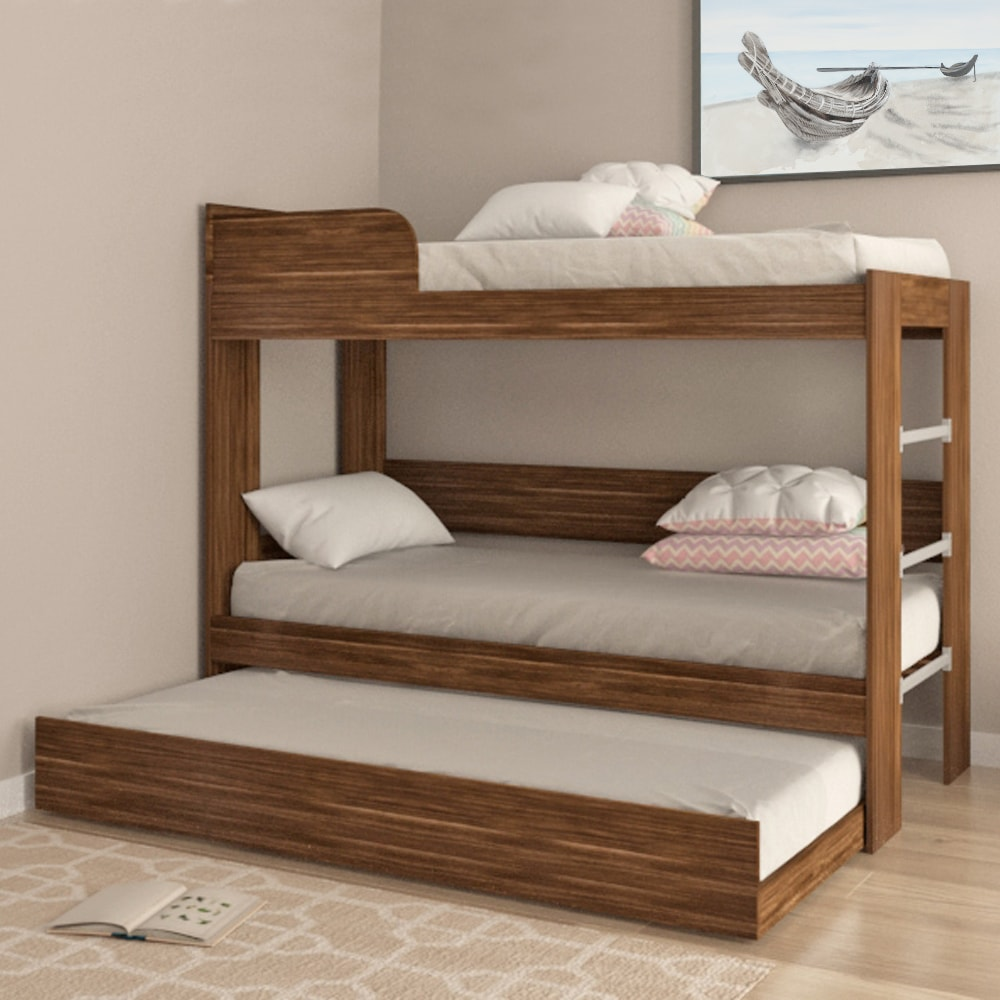 Buy Wooden Bunk Beds Online India Walnut Bunk Bed Evok