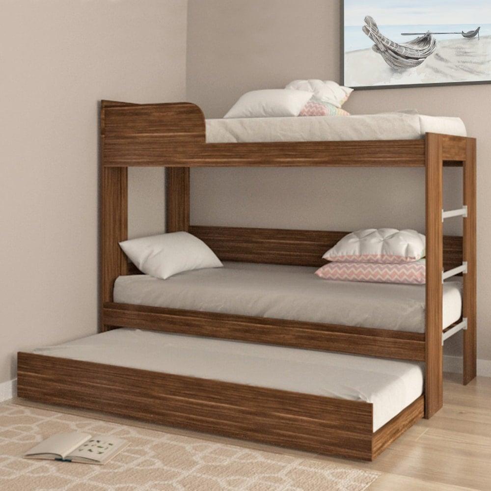 Buy Wooden Bunk Beds Online India Walnut Bunk Bed Evok