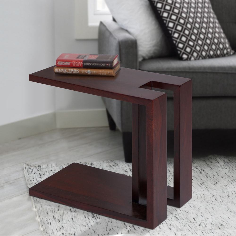 Side Tables Rio Solid Wood Side Table Dark Brown