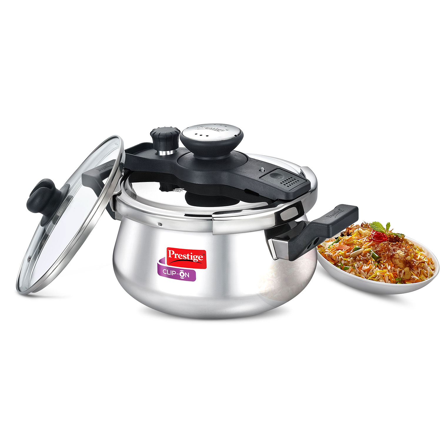 Handi Clip On 5 Ltr Pressure Cooker With Advanced Locking